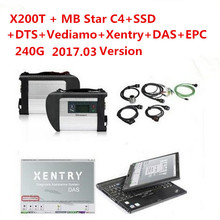 For Mercedes B-enz Diagnosis MB Star C4 Multiplexer Scanner Tool 2017.07v VEDIAMO/DTS/Xentry/DAS Software SSD WITH X200t Laptop