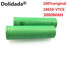 100% original 18650 battery VTC6 3.7 V 3000 MAH Li ion rechargeable 18650 battery akku to us18650vtc6  30A toys tools flashlight