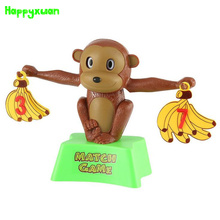 Happyxuan Monkey Bananas Numbers Balance Puzzle Match Fun Game Mathematics Additions Subtractions Learning Early Toys