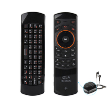 Original Rii i25A Russian Layout 2.4Ghz Wireless Mini Air Fly Mouse Keyboard with IR Remote Learning and Earphone Jack(China)