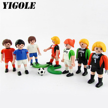 Original Playmobil Football Team Set Action Figures Kids Best Toys Gift(China)