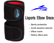 Left Elbow brace relief elbow pain adjustable elastic Strong elbow support Tape protector braces & supports 1 piece