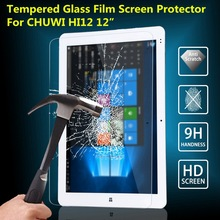 9H Premium Tempered Glass Screen Protector Guard For CHUWI HI12 Tablet Ultra-thin Tablet PC Screen Protector Film 2.5D Edge