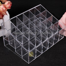 Lady Pop 1pc Clear Lip Nail Polish Makeup Cosmetic Display Rack Holder MM(China)