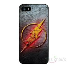 For iphone 4/4s 5/5s 5c SE 6/6s plus ipod touch 4/5/6 back skins mobile cellphone cases cover Marvel DC SuperHeroes FLASH