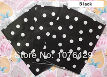 50 Pcs/2 Pack Polka Dot Treat Craft Bags Favor Food Paper Bags Party Wedding Birthday Decoration Color 4