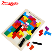 Simingyou Montessori Wooden Puzzle Children Wood Intelligence Montessori Educational Toy Russian Kids Toys Drop Shipping(China)