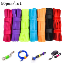 50 PCS/lot High Quality Magic PC TV Computer Wire Cable Ties Organizer Maker Holder Management Straps Magic Tape Cable winder(China)