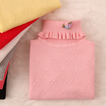 2016 new winter girls' sweaters turn-down collar girls' fashion sweaters children clothing G1222