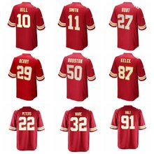100% Stitiched Men's Eric Berry Travis Kelce Justin Houston Alex Smith Kareem Hunt Tamba Hali Marcus Peters Spencer Ware jerseys(China)
