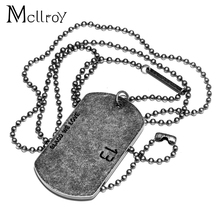 Mcllroy 316L Stainless Steel Dog Tag Necklace & Pendant Bank Simple With 70cm Chain Necklaces 1314 Style Couple Necklaces