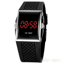 Men Women Casual Unisex White Black LED Digital Sports Wrist Watch Wristwatch Date Clock 01KT 3UWL