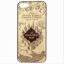 Magic Castle The Marauder's Map Case Cover For Apple iPhone 5 5S Case Cute 5 Series Famous Book Case For Phone