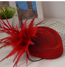 ivory red black blue Womens Lady Vintage Fascinator Wool Hair Pillbox Hat Bowknot Veil Felt Cocktail Party Wedding Socialite