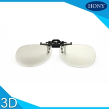 RU Free Shipping,2pcs Clip On Passive Reald Circular Polarized 3D Glasses Clip for LG For Smasung For Sony 3D TV Cinema Film