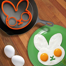 Delicate egg little white rabbit egg shaper silicone moulds egg ring silicone mold cooking tools Hot Selling ss827(China)