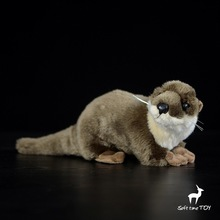 Children's Toy Plush Otter Doll Simulation Wild Animals Toys Gift(China)
