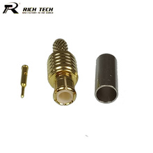 100pcs MCX Male Straight Connector High Quality Gold Plated RF Cable Adapter MCX Connector for Coax Cable RG316 RG174 RG178(China)