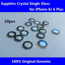 10pcs/Lot Original Camera Lens for iPhone 6/ iPhone 6 Plus;Sapphire Crystal Single Glass Without Frame+3M Sticker