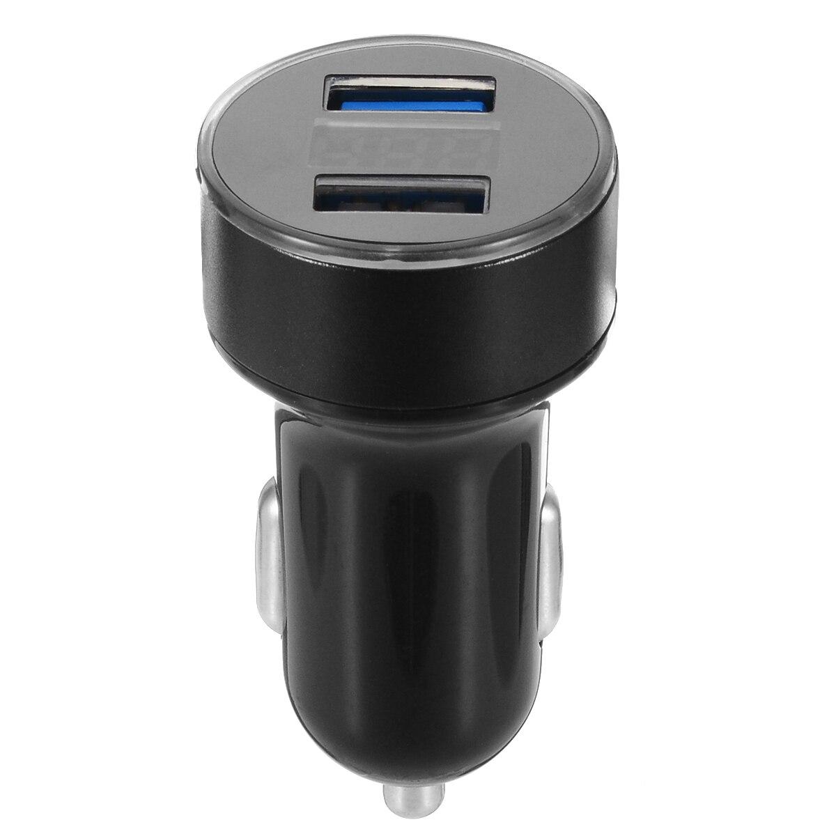 Car Charger 5V 3.1A With LED Display Universal Dual Usb Car-Charger For Phone 12-24V Cigarette Socket Lighter