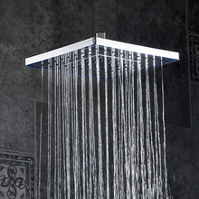 Square ABS Plastic Ultra-thin Shower Heads Faucet Accessories Rainfall Shower Head Rain Shower. Not Includes Shower Arm FS236(China)