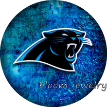 BG50018 Football Carolina Panthers snaps button fit 18mm 20mm snap button jewelry bracelet Gift Sports Good quality(China)
