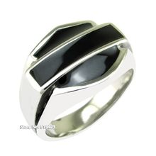 Punk US Size 7-15# Soft Enamel Black Biker Cast Ring 316L Stainless Steel Motor Ring Jewelry