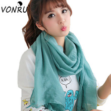180*80CM Fashion Summer Scarves Solid Long Shawls Candy Colors Wraps Femme Bandanas Cachecol Feminino 1WJ3118