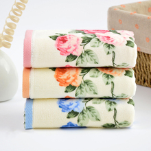 Luxury Face Fitness Flower Towels Bathroom Wash Soft Cotton Towel Washcloth