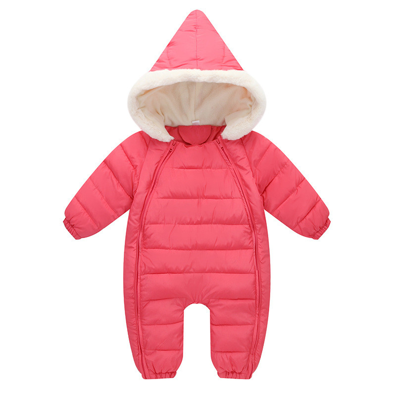 18M-3T Baby Clothing Rompers Solid Colors Infant Thickening Keep Warm Romper Baby Boy Clothes Winter For Baby Girl Romper V20<br>