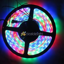 16.4FT 5M WS2811 5050 RGB Dream color 300 Leds  Digital LED strip Light Waterproof 12V Free shipping