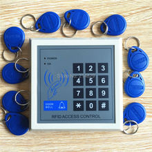 Door Access Control Keypad RFID ID Cards Proximity Reader with 10 Key Fobs for Home Offices Security System