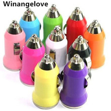 Winangelove 1000mAh Bullet Mini USB2.0 New 1A Car Charger For PDA Mobile Phones For Iphone4 4S Car Charger Adapter For Samsung