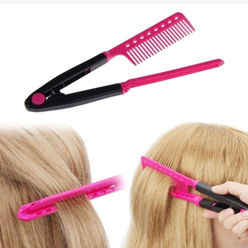 Peine para sujetar el cabello mientras se plancha