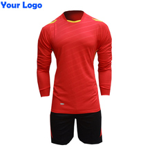 2017 New Men's Long Sleeve Soccer Jersey Suit Blank Training Survetement Football Tracksuit Sports Uniforms Design Customized