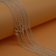 "925 Sterling Silver Pearl Necklace With Flexible Lobster Clasps 16""-30"" For Choice Cross Chains 10pcs Xl053"