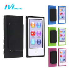 Belt Clip Case for iPod Nano 7 Case Cover Sport TPU Silicone Soft Cases Covers Outdoor Black Blue Green Rose for iPod Nano 7th(China)