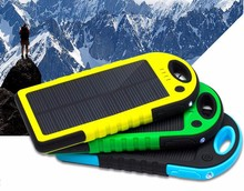 FDM 5000mAh Outdoor Portable Solar Power Bank with Dual USB Emergency External Battery Charger for Samsung iPhone Smartphones