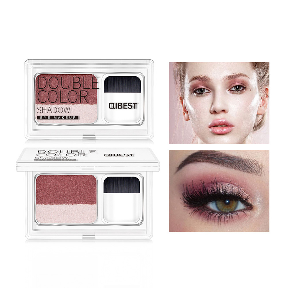 Popular Brand Two-tone Lazy Eye Shadow Shimmer Lasting Natural Make Up Seal Eye Shadow Gradient Pearl Eye Shadow With Brush Tslm1 Back To Search Resultsbeauty & Health
