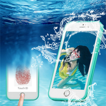 Jiban Case For iPhone 7 6 6S Plus Coque Waterproof Case Transaprent Smart Touch Screen Case For iPhone 6 6S 7 Plus Diving Cover