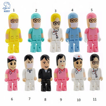 KRY Creative Cute Medical Nurse USB Flash Drive Dentist Pendrive Gift Plastic Mini High Speed U Disk 2.0 4GB 8GB 16GB 32GB 64GB
