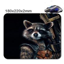 DIY  Rocket Guardians Rectangle Non - Slip Rubber 3D HD Printing Gaming Rubber Durable Notebook Mousepad 220X180x2mm