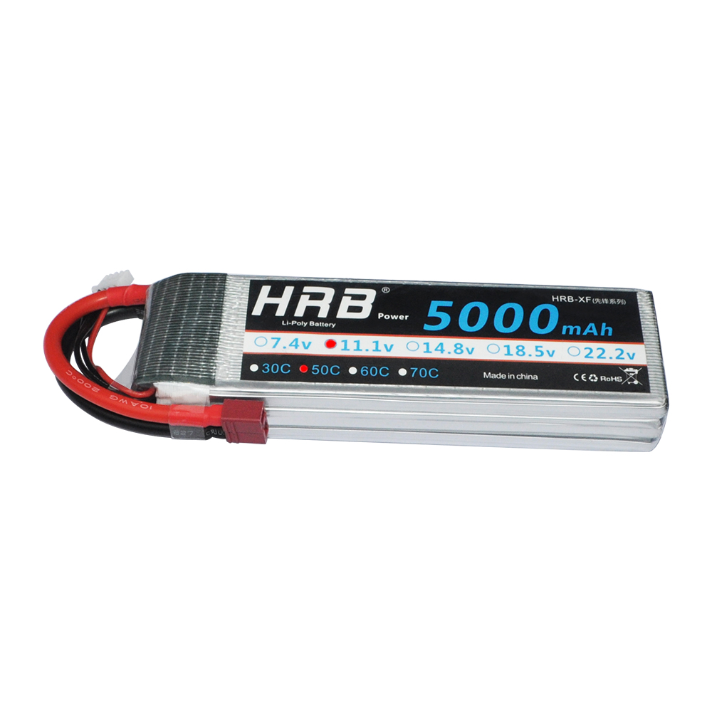 2pcs HRB RC Lipo 3S Battery 11.1V 5000mAh 50C MAX 100C Drone Bateria AKKU For RC Helicopters Airplane Car Boat Quadcopter UAV<br>
