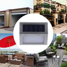 Mini 2-6 LED High Brightness Solar Power Outdoor Garden Wall Corner Light