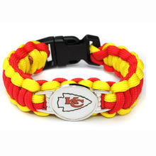 Kansas City Football Team Chiefs Paracord Survival Friendship Outdoor Camping Sports Bracelet Red Gold Cord(China)