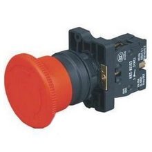1pc Red Mushroom Emergency Stop Switch XB2-ES542 22mm NC N/C Push Button Switch 600V 10A(China)