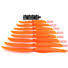 Airplane Propell 10pc/lot EP5030/6035/7035/8040/8060/9050/1060/1160 Props For RC Model Aircraft Replace GWS(China)