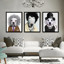 Cartoon Animal Dog  Art Canvas Poster Wall Painting Fashions Picture Modern Home Prints Kids Room Decor No Frame