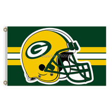Helmet Stirp Design Green Bay Packers Flag Football Team Sport Flags 3x5 Super Bowl Champions Banner Fans World Series Custom(China)