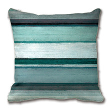 Teal And Grey Abstract Art Pillow Decorative Cushion Cover Pillow Case Customize Gift By Lvsure For Car Sofa Seat Pillowcase(China)